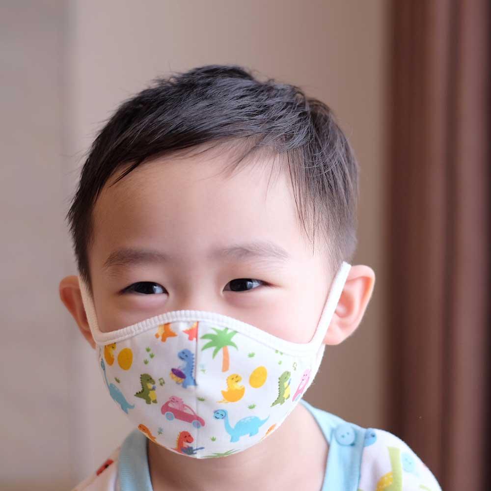 Down to Earth Korean Premium Kids Mask No 2 Motif Hello Dino Size S 2