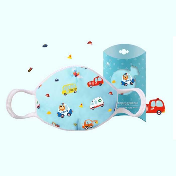 Down to Earth Korean Premium Kids Mask No 6 Motif Car Size S 1