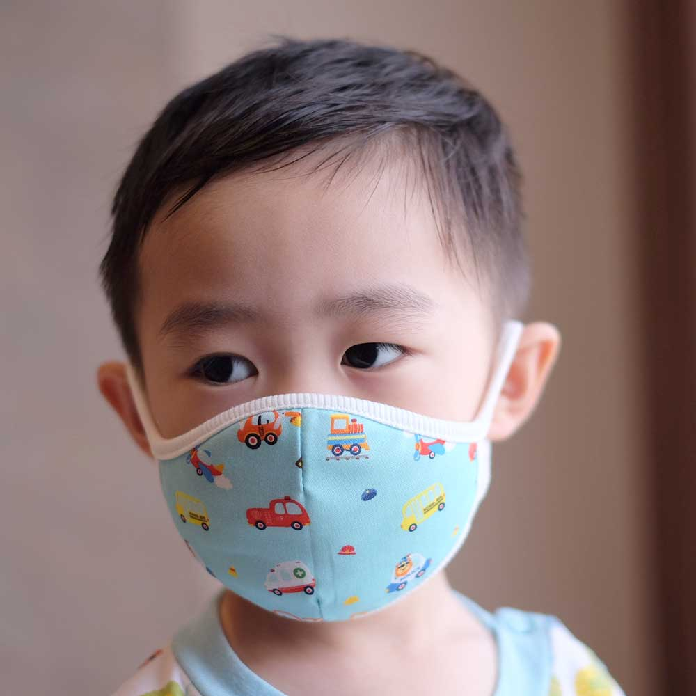 Down to Earth Korean Premium Kids Mask No 6 Motif Car Size S 2