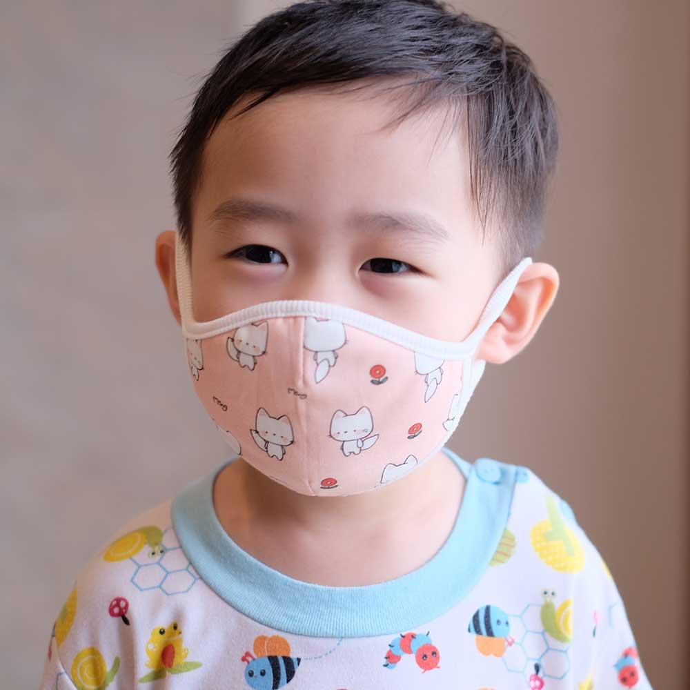 Down to Earth Korean Premium Kids Mask No 8 Motif Cat Size M 2