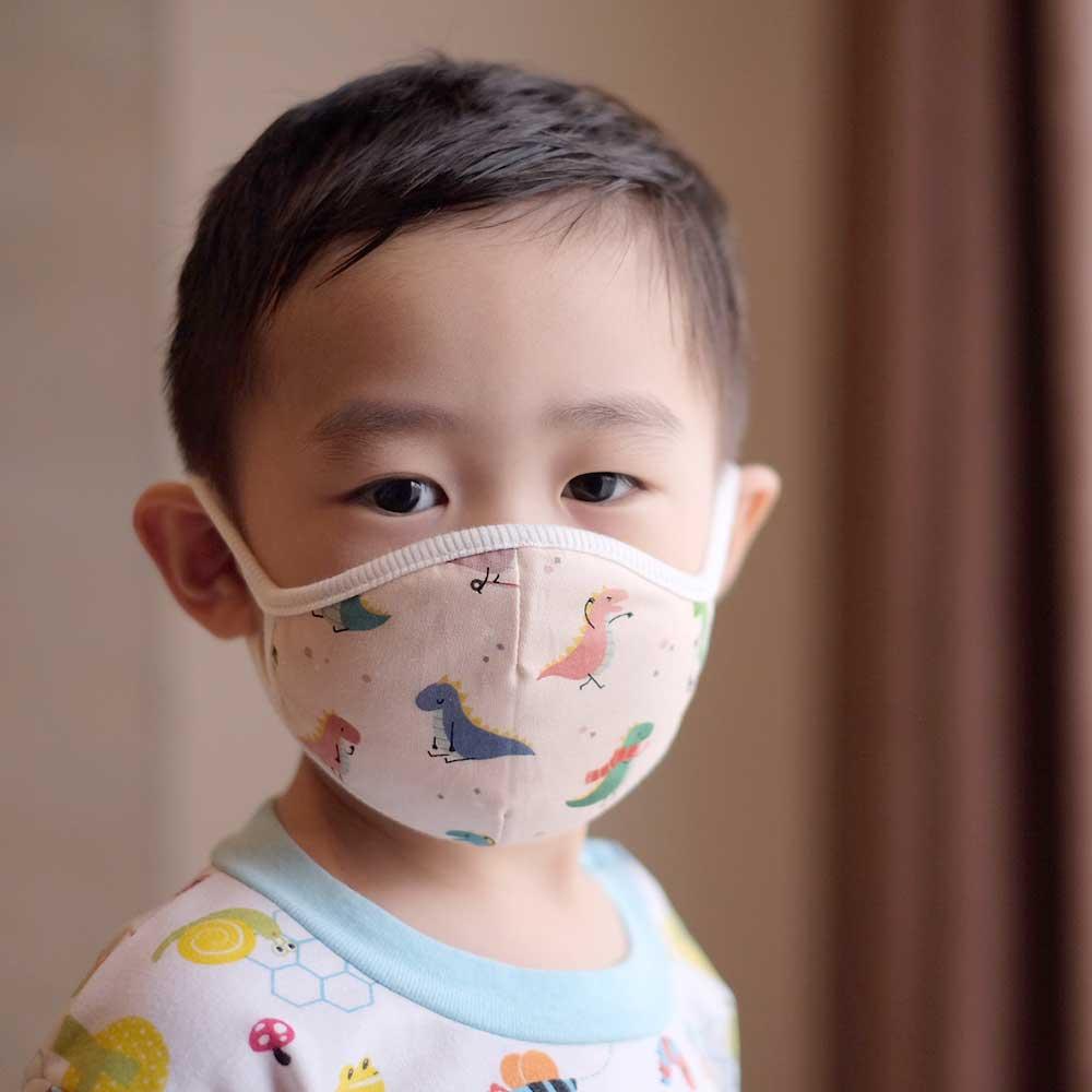 Down to Earth Korean Premium Kids Mask No 11 Motif Pink Dino Size M 2