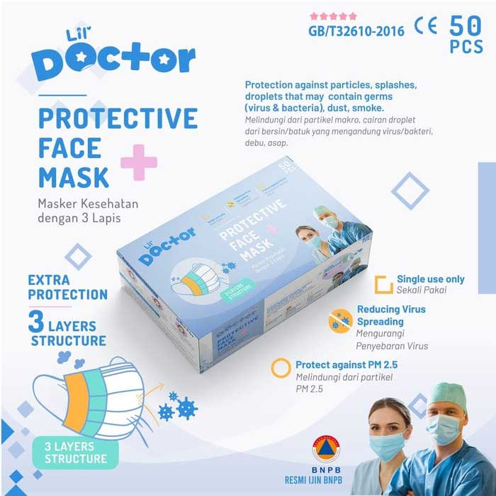 Lil Doctor Protective Mask 50pcs