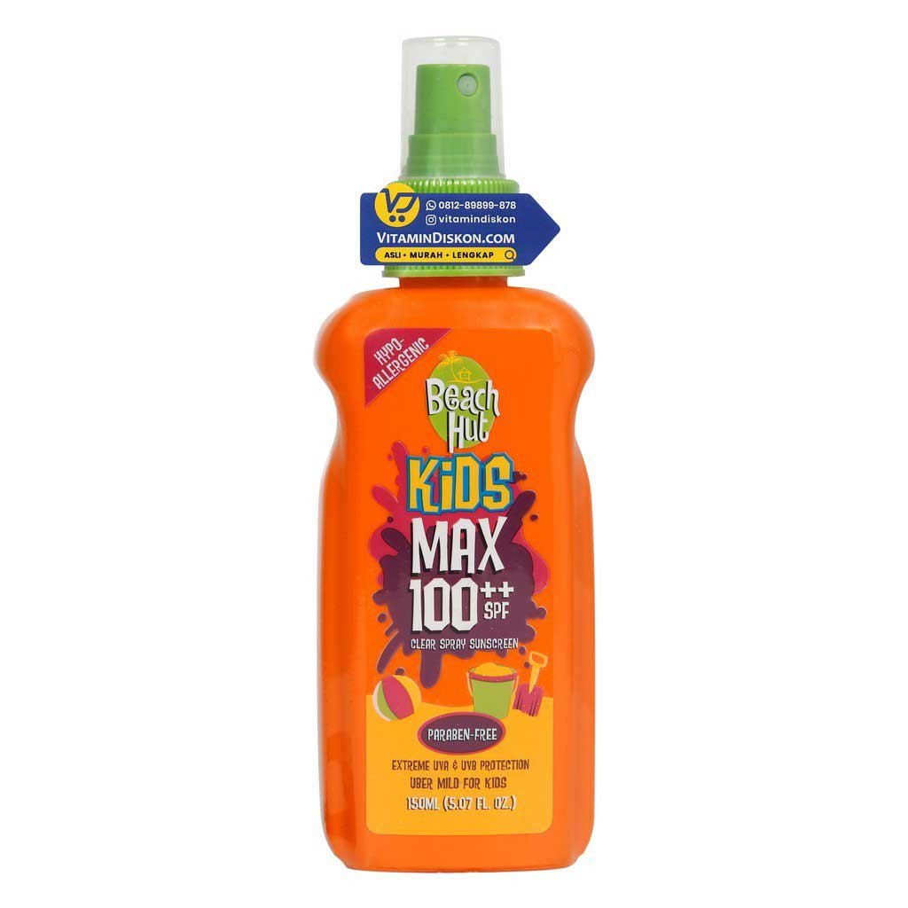 Beach Hut Kids Clear Spray Sunblock Spf 100 (150ml)