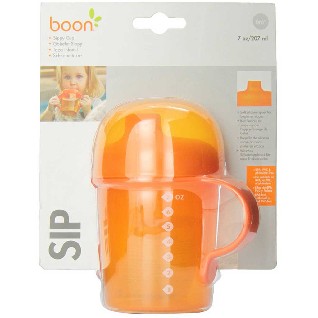 Boon Sippy Cup 207ml - Orange