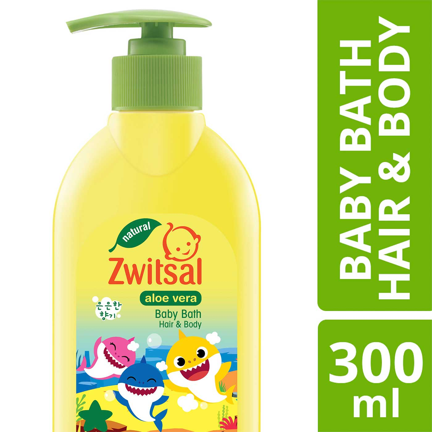 Zwitsal Bath Hair and Body Aloe Vera Baby Shark Edition 300ml