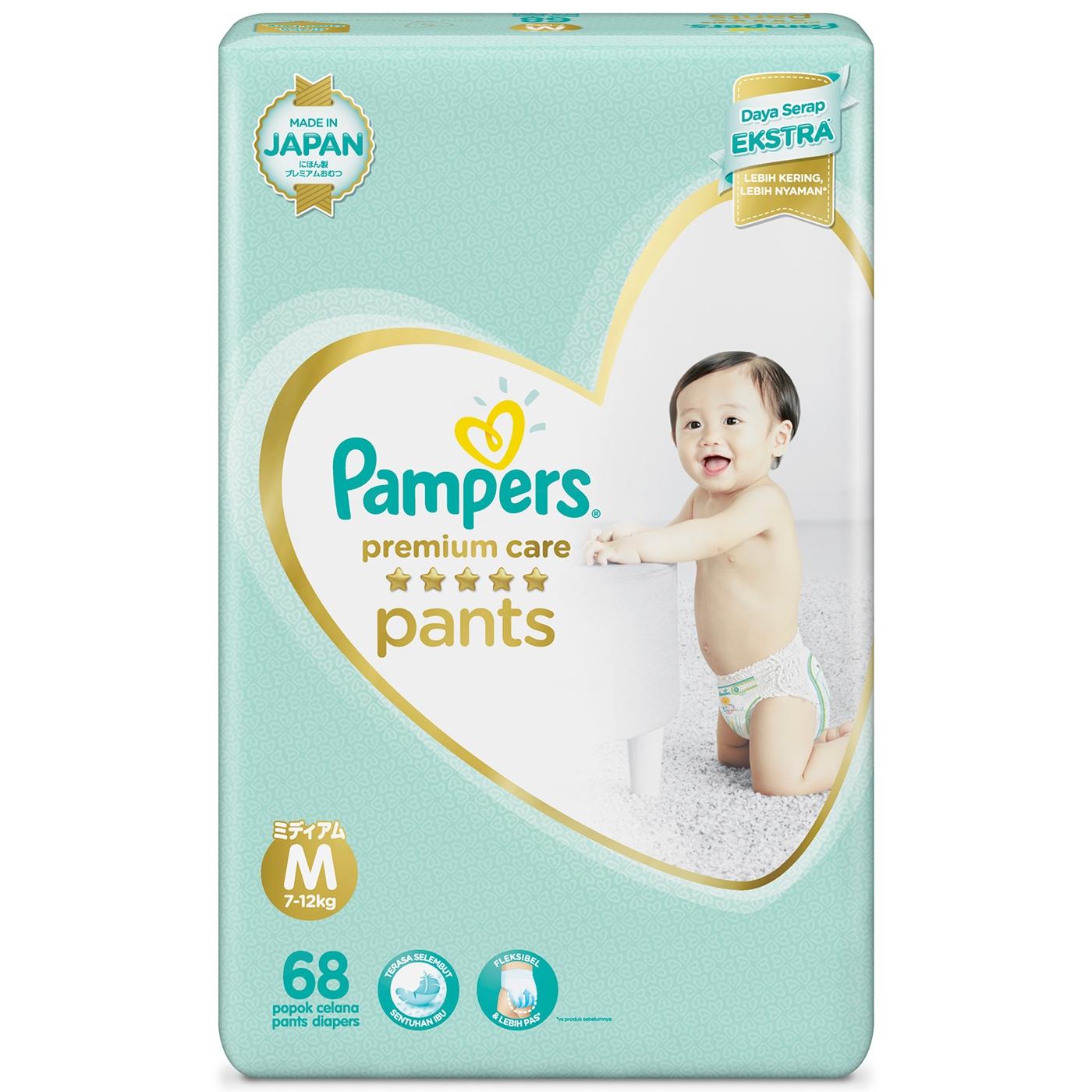 Pampers Popok Celana M-68 Premium Care Bowt