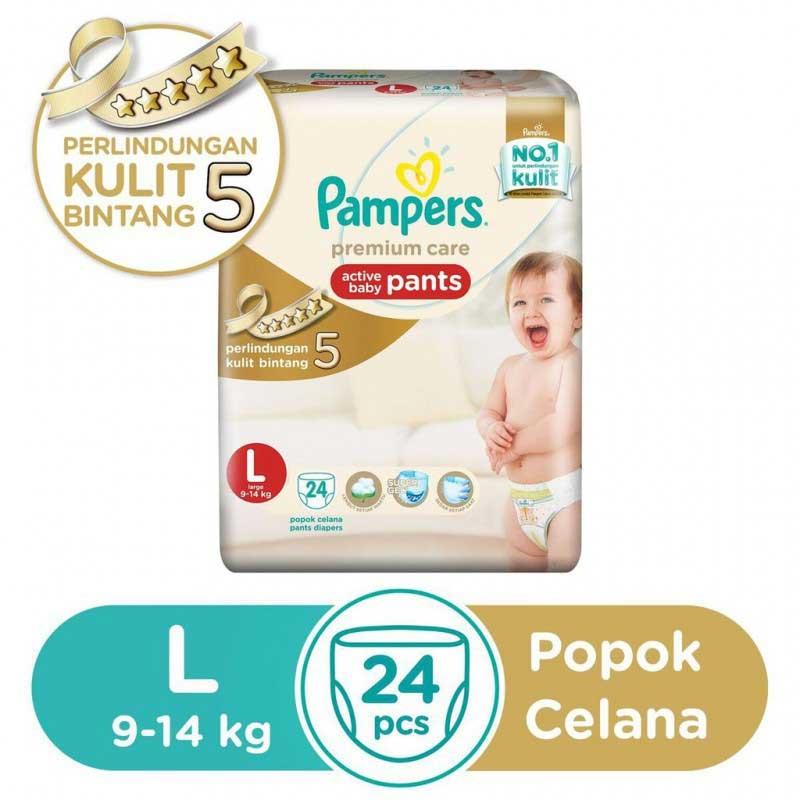 Pampers Popok Celana L-24 Premium Care Bowt