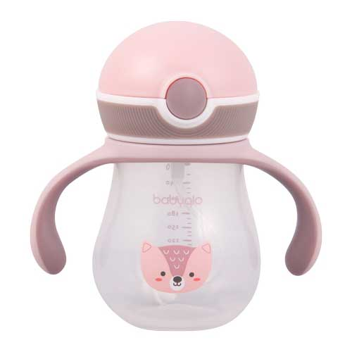 Babyqlo Baby Sippy Cup With Straw - Pink