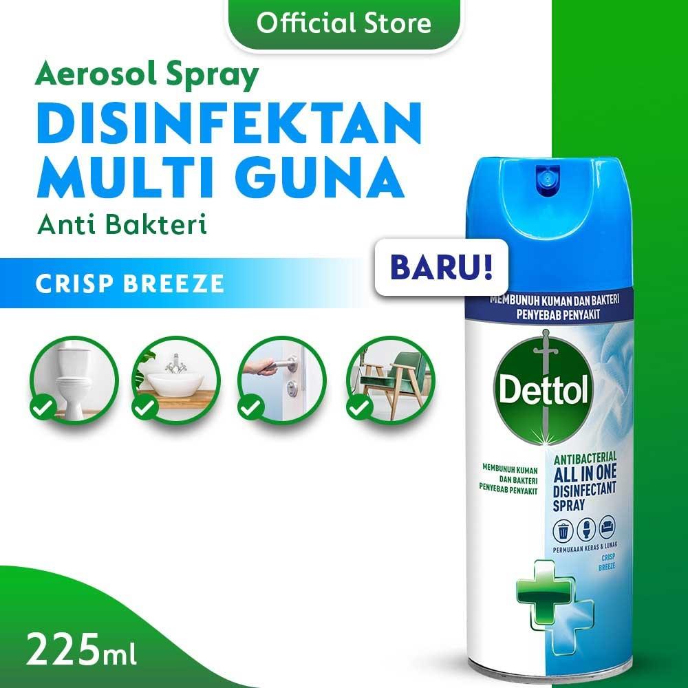 Dettol Desinfectan Spray Crisp Breeze 225ml