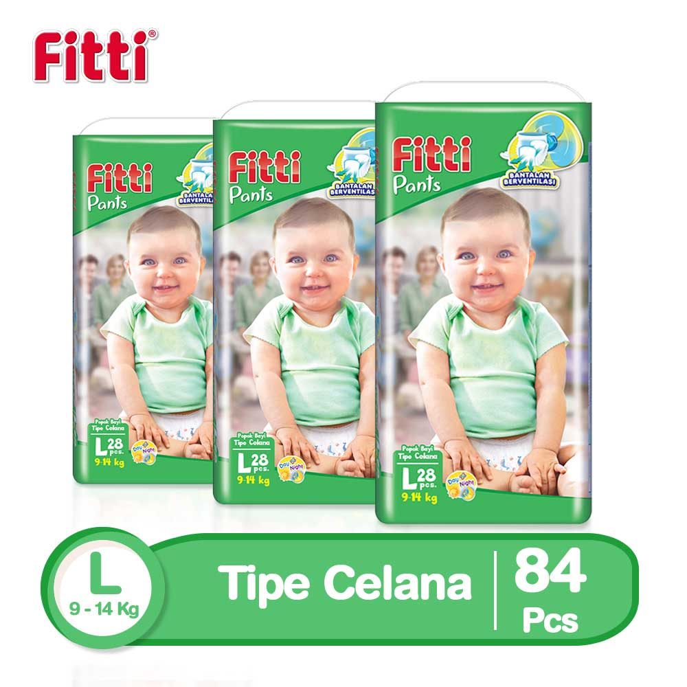 Fitti Pants Popok Celana L 28 - Isi 3 [Exclusive Online]