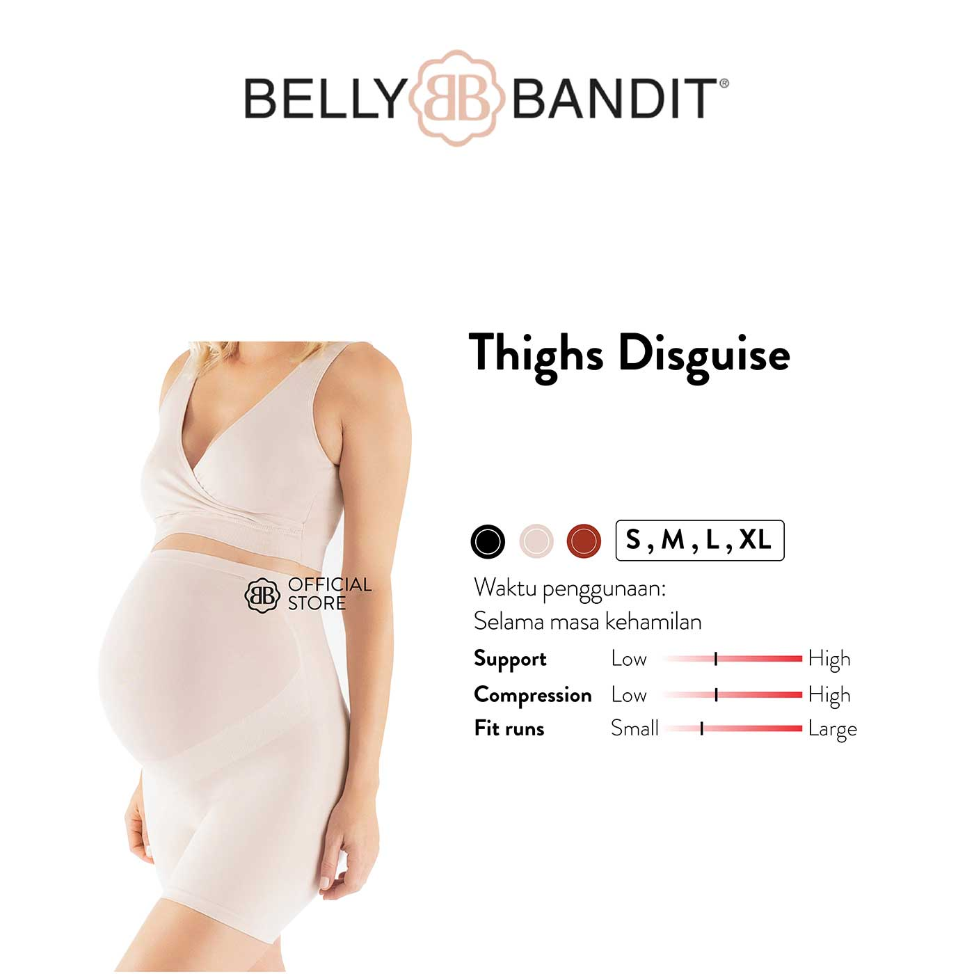 Belly Bandit - Thighs Disguise-Nude - L | 12-14