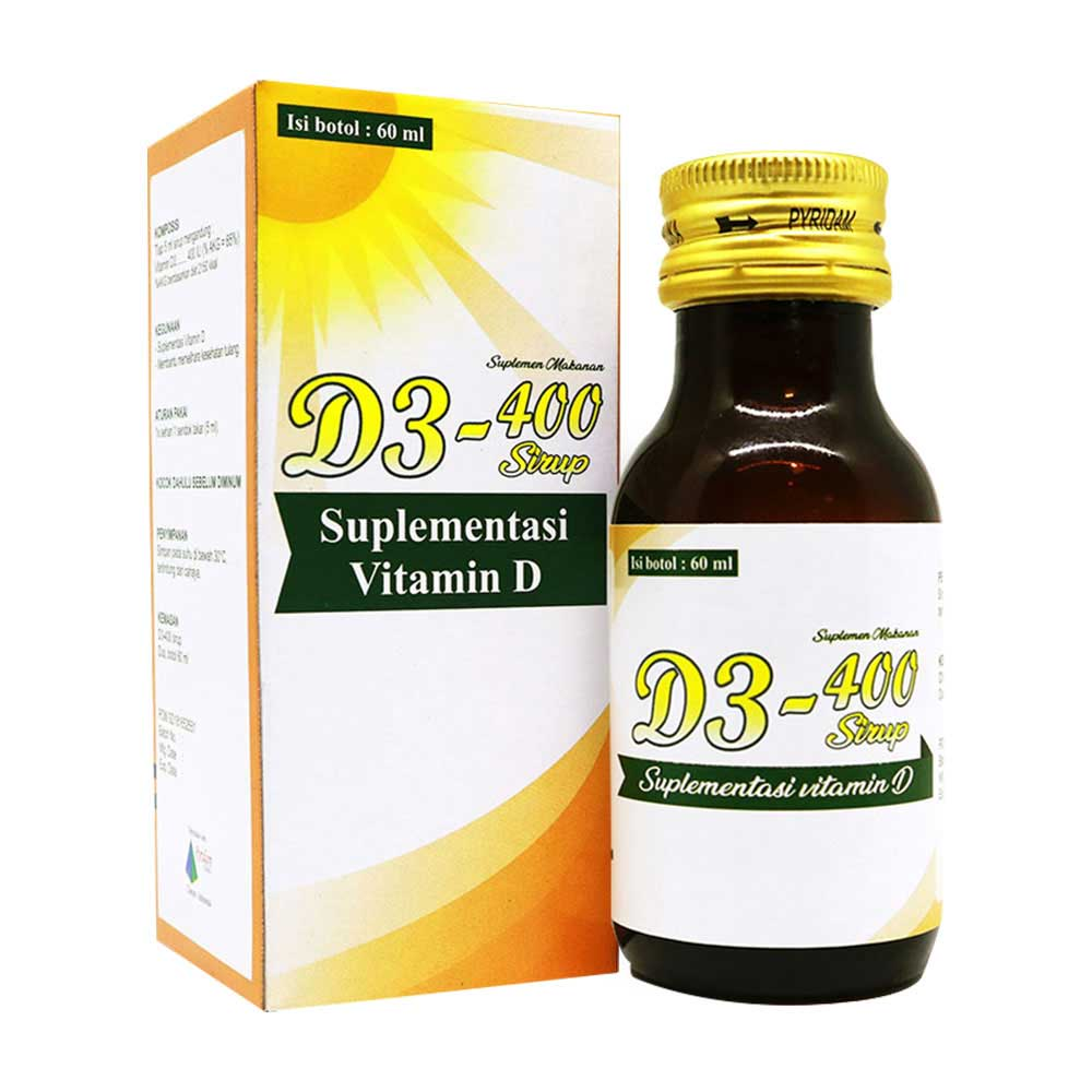 D3-400 Sirup Suplemen Vitamin D3 (@ 60mL)