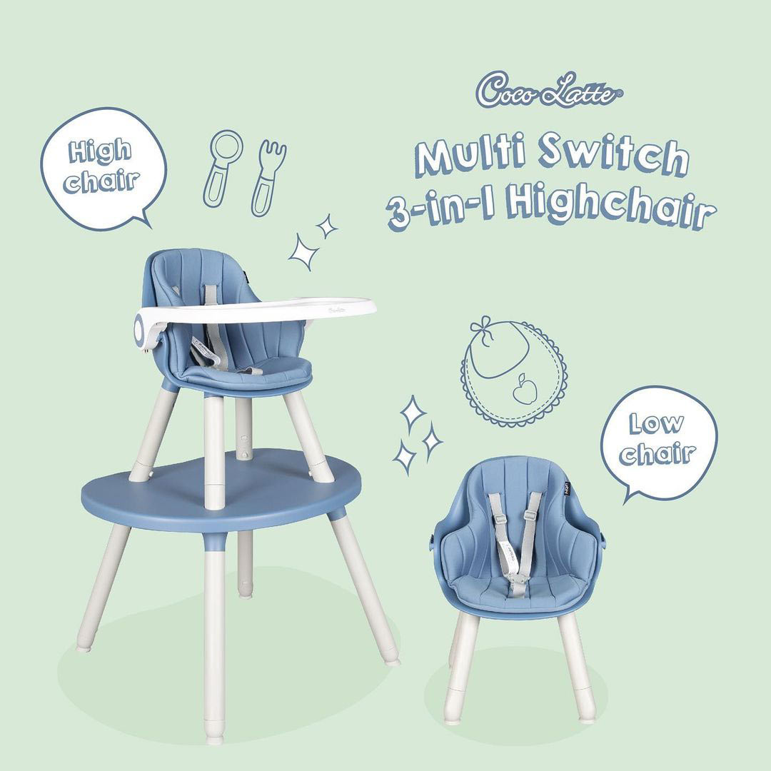 Cocolatte Highchair CL 2308 Multi Switch- Blue