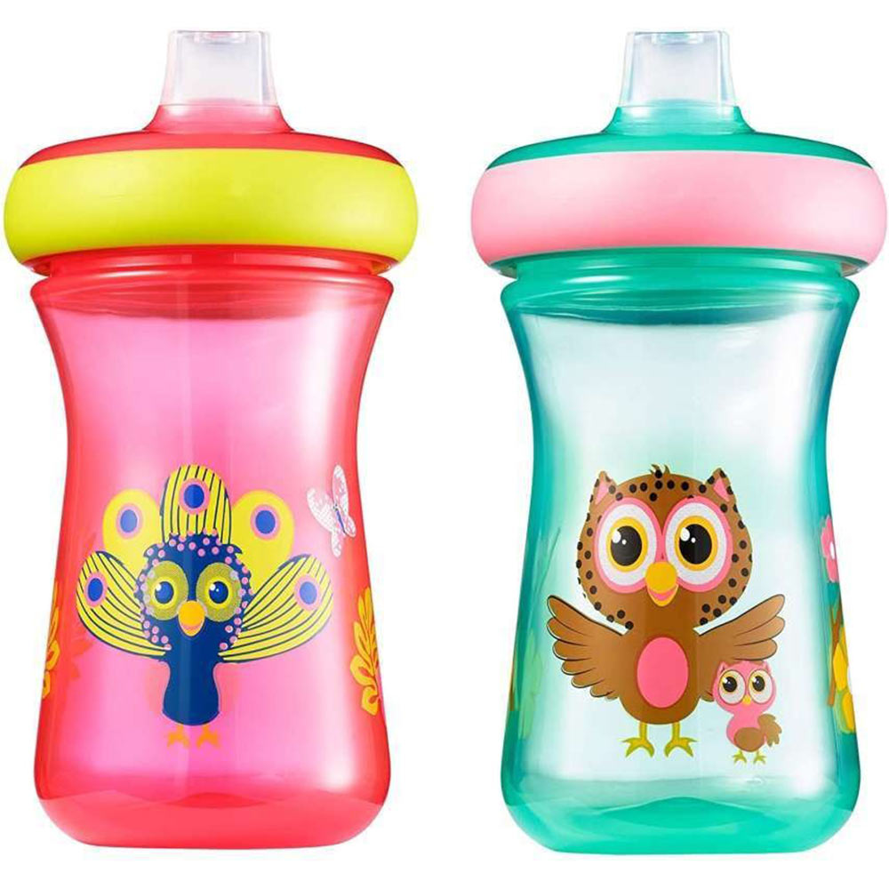 The First Year Soft Spout 9oz Sippy Cup 2pk Animal Girl