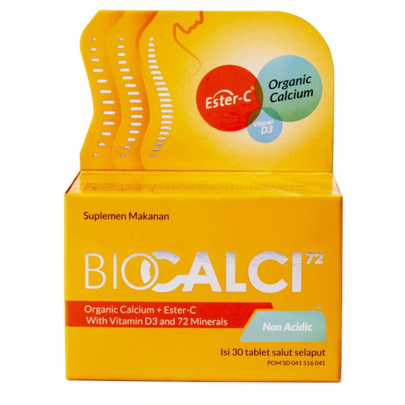BIOCALCI 72 Organic Calcium Plus Ester C Isi 30