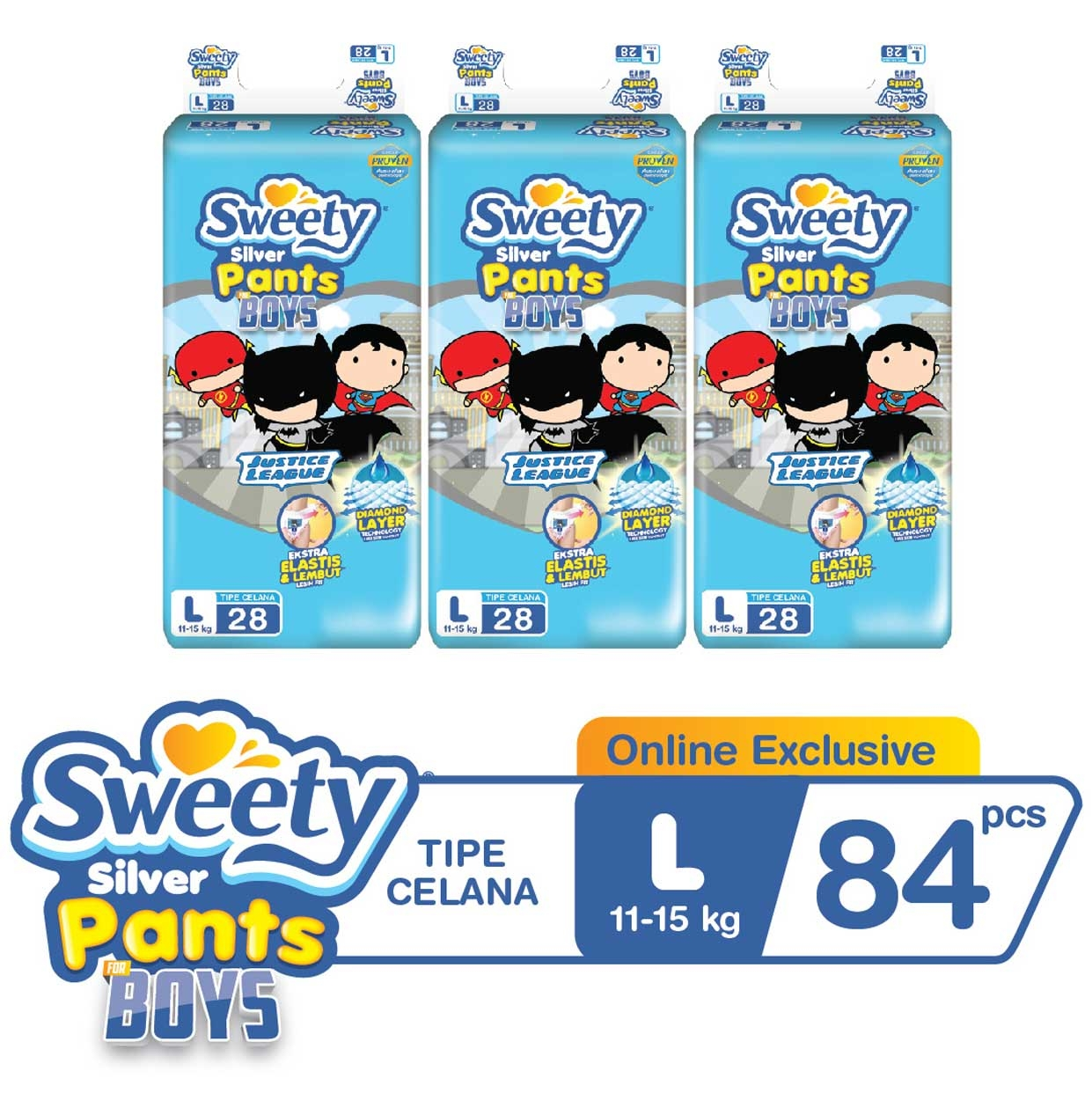 Sweety Silver Pants Boys L 3x28