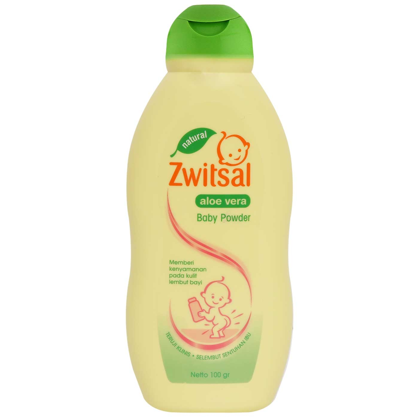 Zwitsal Baby Natural Aloe Vera Powder 100gr