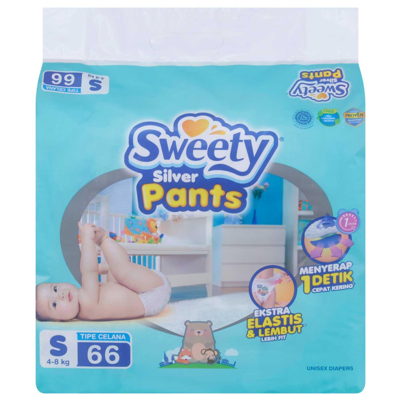 Sweety Silver Pants S 66's