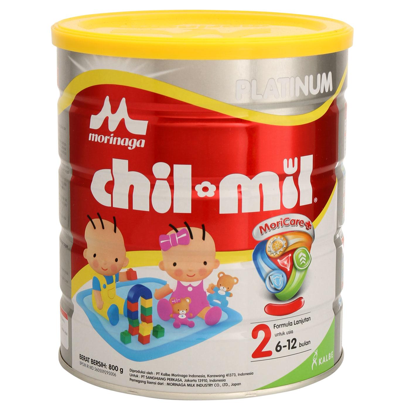Morinaga Chil Mil Platinum Moricare+ 800gr Tin 1