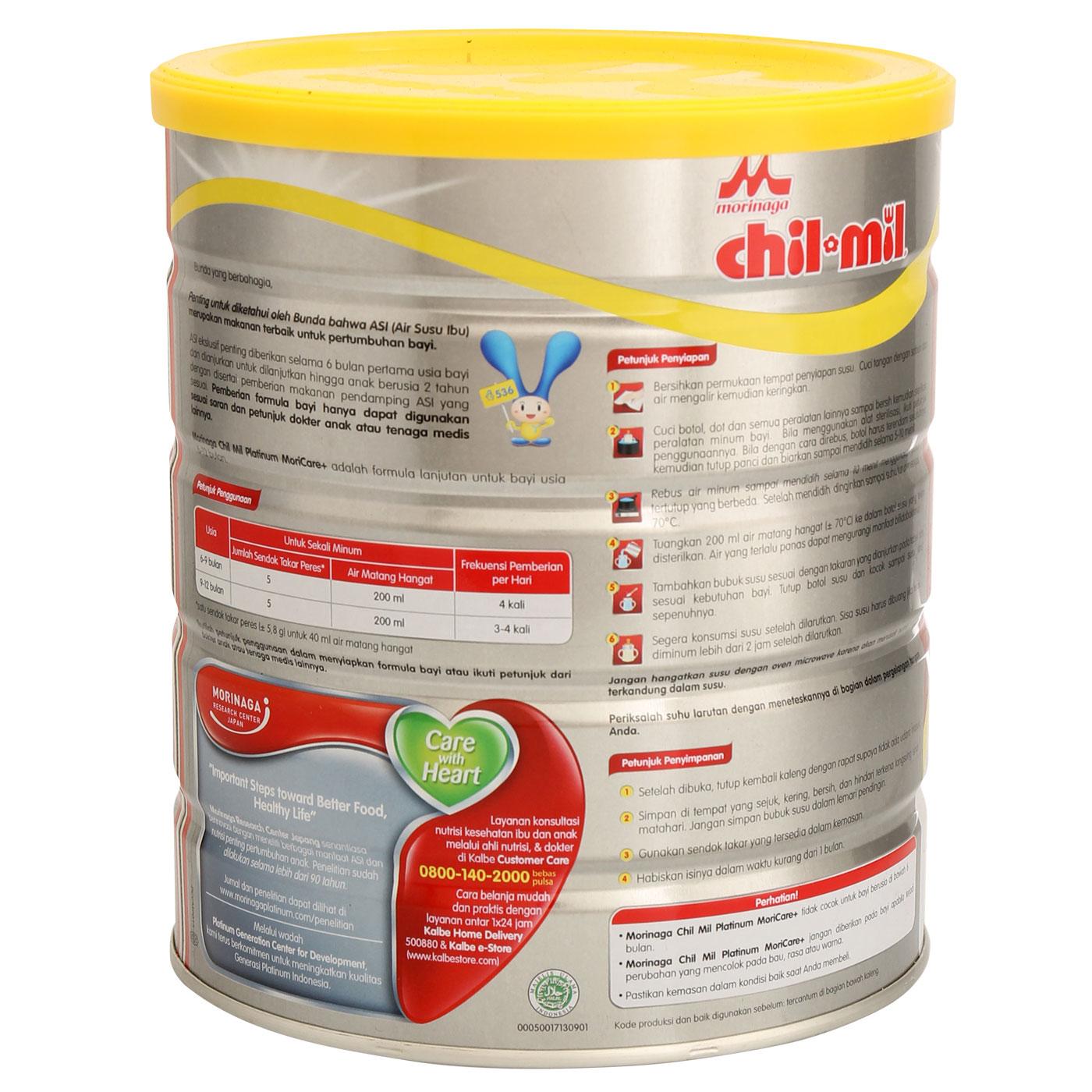 Morinaga Chil Mil Platinum Moricare+ 800gr Tin 3