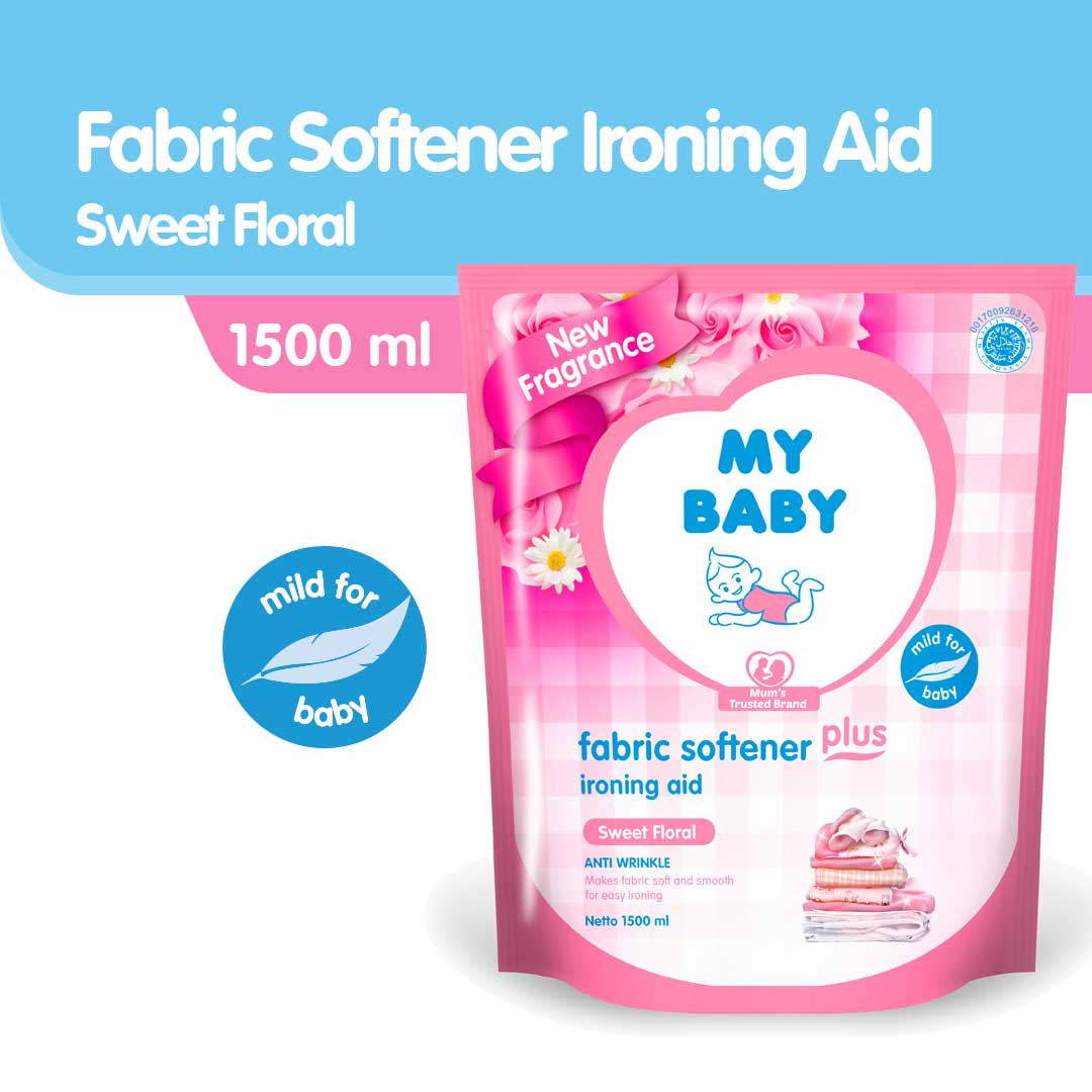 My Baby fabric Softener Plus Ironing Aid Sweet Floral 1500ml