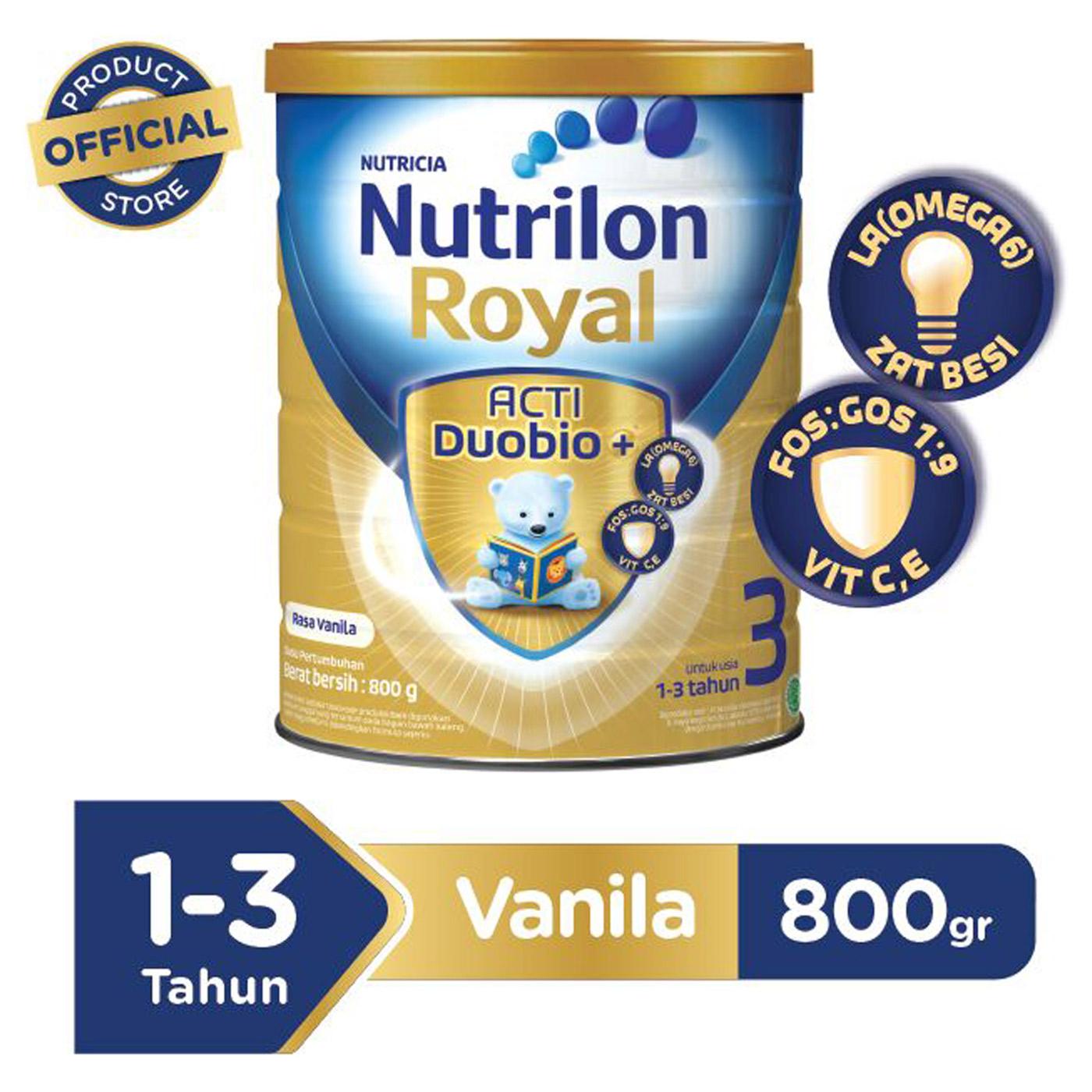 Nutrilon Royal 3 Vanila Susu Pertumbuhan Bubuk 800 GR 1