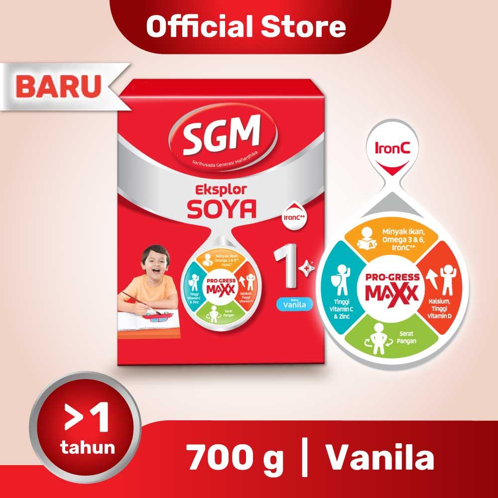 SGM Eksplor Soya 1+ Pro-GressMaxx  Formula Pertumbuhan Vanilla 700GR