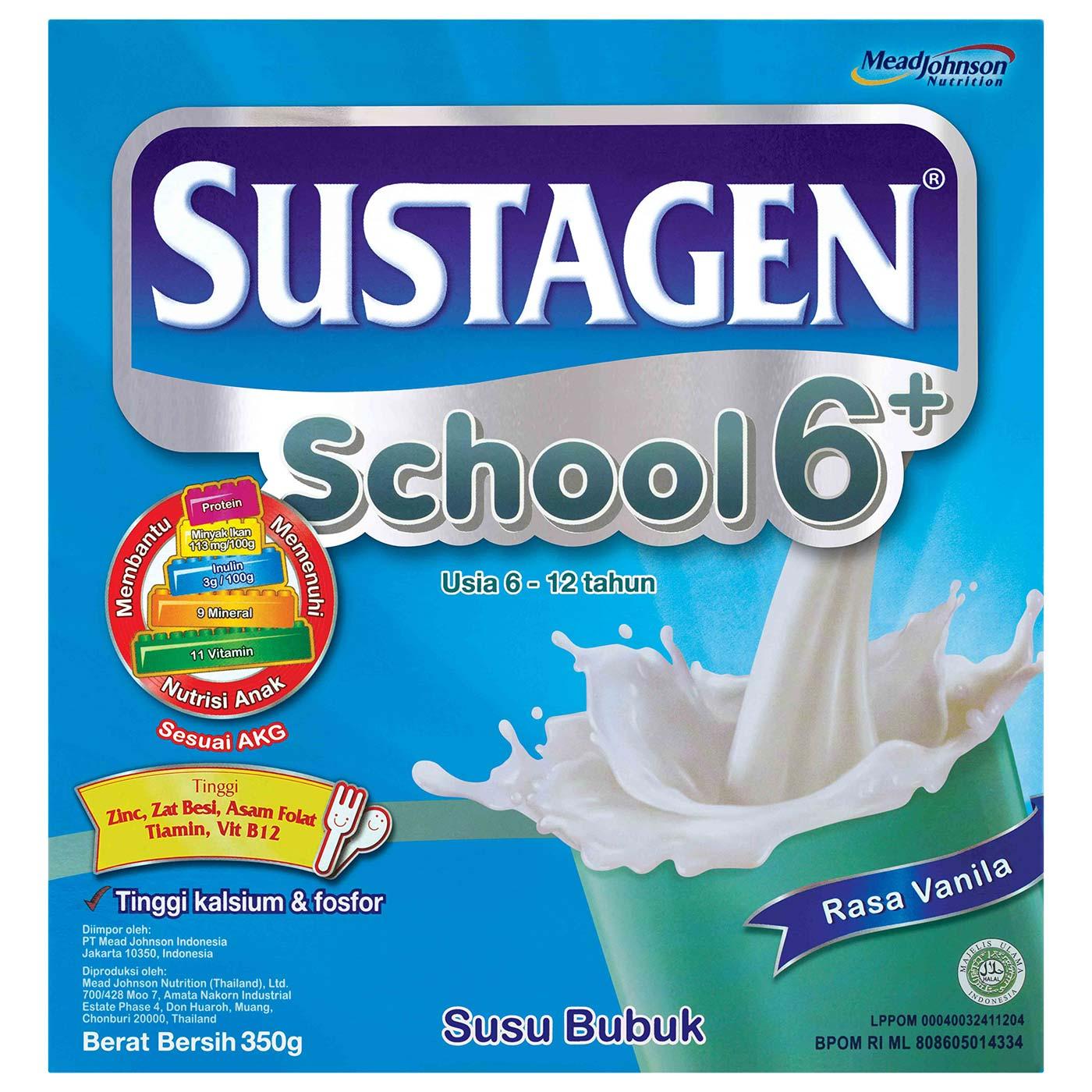 Sustagen School 6+ Vanila 350gr Box